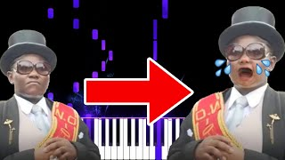 Coffin Dance but It turned Sad and Romantic - Funny Piano Memes видео