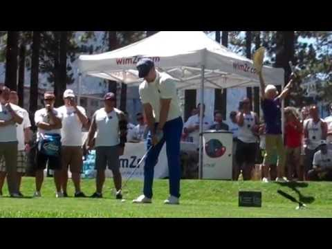 Justin Timberlake Teeing Off At 2015 American Century Golf Event