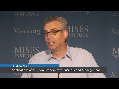 Applications Of Austrian Economics To Business And Management