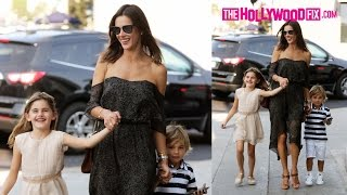 "Alessandra Ambrosio & Her Daughter Anja Get Serenaded ""Happy Birthday"" By Paps At 8th Birthday Party"