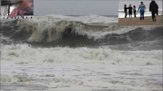 HAMPTONS Waves,generated by Hurricane Sandy in Bridge Hampton,  New York