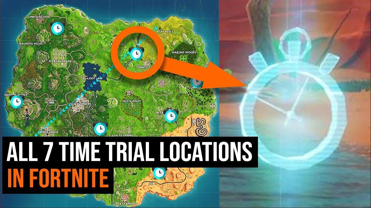All 7 Time Trial Locations In Fortnite Week 6 Challenges Youtube