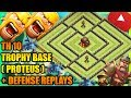 Clash Of Clans Town Hall 10 TH10 Trophy Base 2017 Defense Replays ANTI 2 STAR ANTI ALL