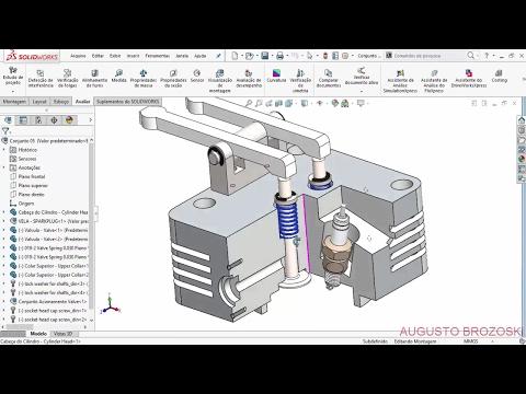 Solidworks Radial Engine Motor Radial Cylinder Head 06 de 08 Parte 01