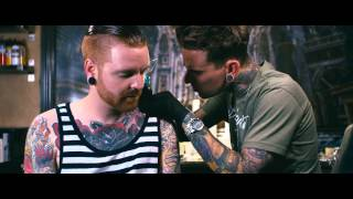 Backstage Ink | Matty Mullins of Memphis May Fire gets a Neck Tattoo by London Reese
