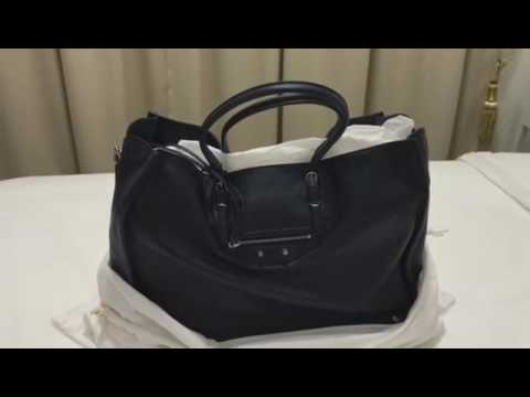 5abe4ba2d UNBOXING: Balenciaga Papier A4 Zip Around Tote in Navy Blue - YouTube