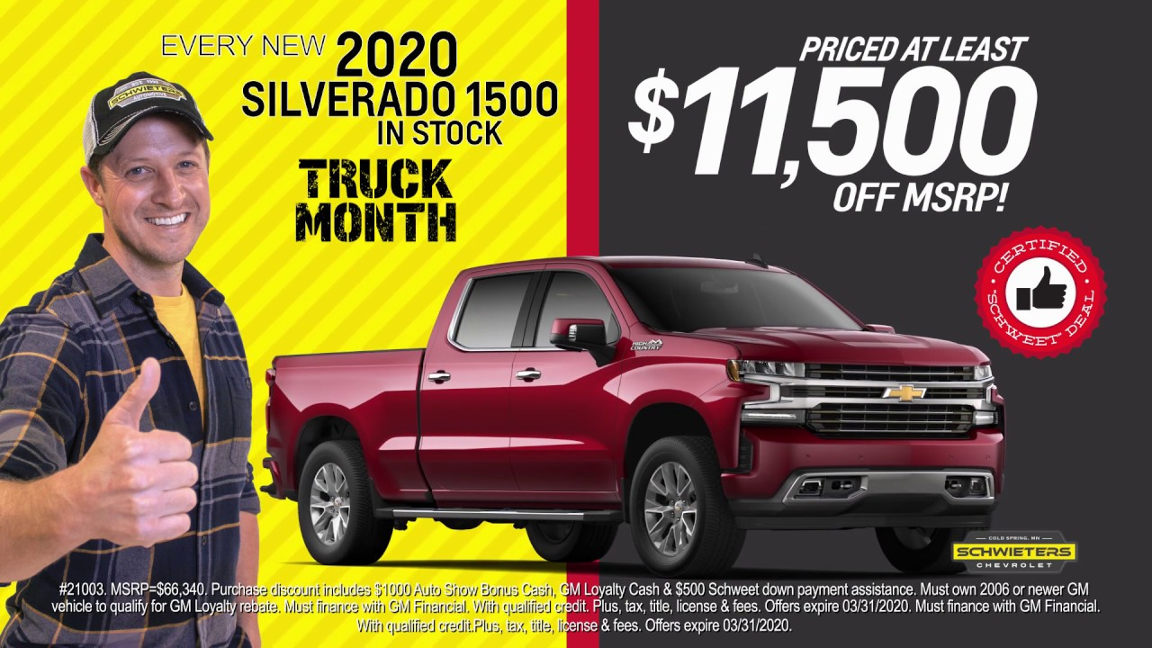 New Silverados At Schwieters Chevrolet Cold Spring Mn Youtube