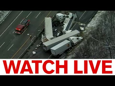 Press conference from Sunday's Pennsylvania Turnpike accident by Eyewitness News ABC7NY.