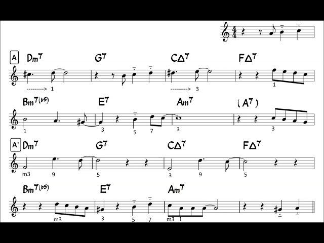 Autumn Leaves - Easy Solo Example for Tenor Sax - 01