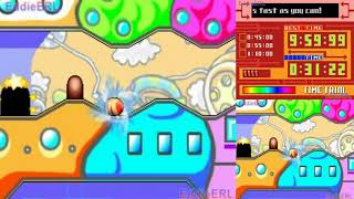 TAP (DS) Kirby Canvas Curse - Rainbow Run & Subgames Level 3 (No Damage)