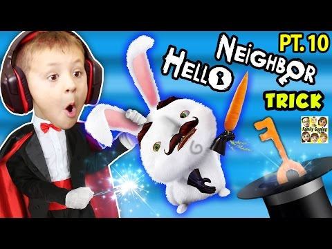 HELLO NEIGHBOR TRIK DENGAN FGTEEV CHASE! Pre-Alpha, 2, & 3 Tips Acak (KIDS Gaming)