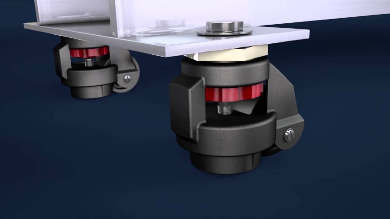 Adjustable Levelling Castors   How Do They Work?   YouTube