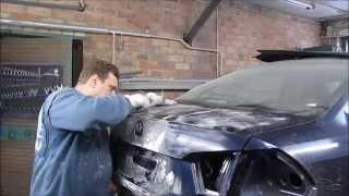 VW Passat. The body repair of the car. Ремонт кузова машины.
