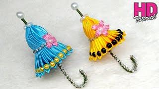 DIY - How To Make Satin Ribbon || Umbrella || Kanzashi Flowers