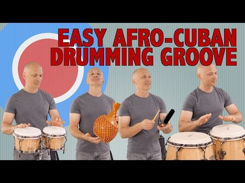 Afro-Cuban Drumming Groove - Ensemble