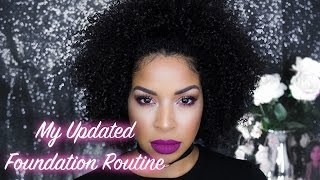 My Updated Foundation Routine Great On Oily & Dry Skin!
