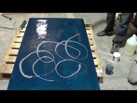 Epoxy Metallic Floor. How To Do A Metallic Epoxy Floor