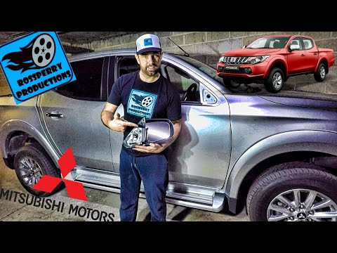 Mitsubishi L200 Triton Wing Mirror (Electric) How to Removal & Replace Tutorial 2016-2019, Warrior