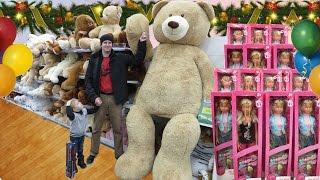VLOG Трехметровый Плюшевый Мишка! Шопинг в магазине игрушек TEDDY BEAR  10 ft.! Shopping