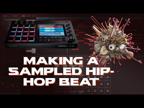 Sampled Hip-Hop Beat Making Akai MPC 2.2.0   MPC Live   Project Files in Description
