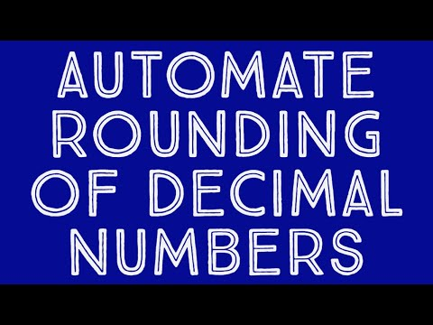 Automate rounding of decimal numbers MS Excel - YouTube