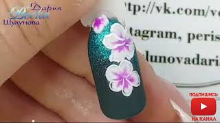 простой и быстрый дизайн ногтей  Растяжка блестками  Тонкие линии  Как рисовать тонкие линии