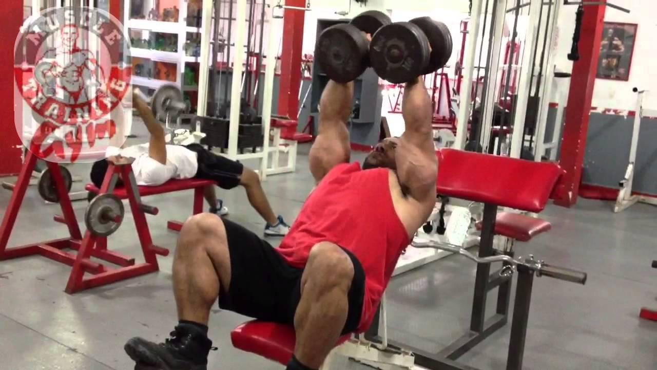 Pecho y biceps gym