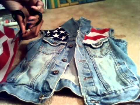How To: ***American Flag Vest W/Bling**** (NO SEW)