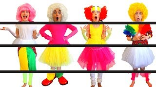 WE'RE MIXED UP! PUT OUR CIRCUS OUTFITS TOGETHER AGAIN Challenge By The Norris Nuts