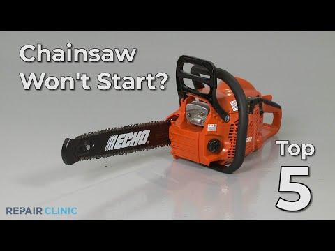 "Thumbnail for video ""Chainsaw Won't Start? Chainsaw Troubleshooting"""