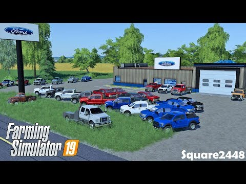 New F150's & F250's Arrive! | Ford Dealership | Farming Simulator 19