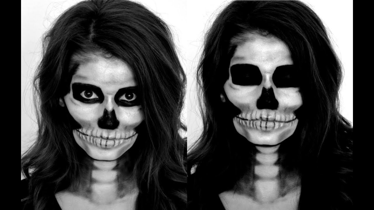 Halloween Make Up Skelet.Skeleton Halloween Makeup Tutorial