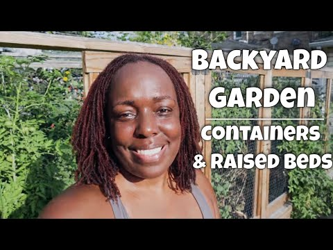 Backyard Garden in August | Containers & Raised Beds