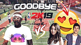 I Played A 2k Couple My Last Game On NBA 2k19!! I Finally Deleted My 99 Overall (Very Emotional..)😪