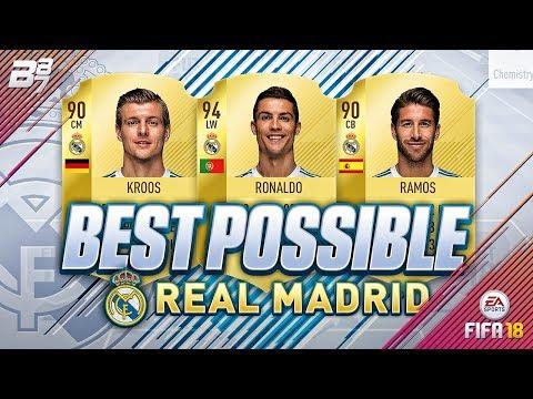 BEST POSSIBLE REAL MADRID TEAM! w/ RONALDO AND SERGIO RAMOS! | FIFA 18 ULTIMATE TEAM