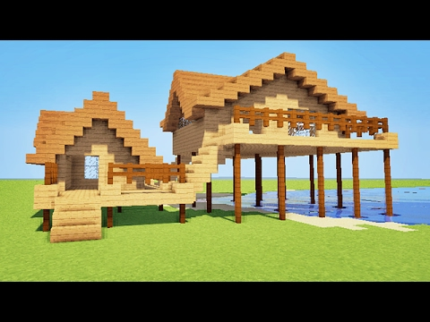 Minecraft comment faire une maison de plage sur pilotis for Belle maison minecraft
