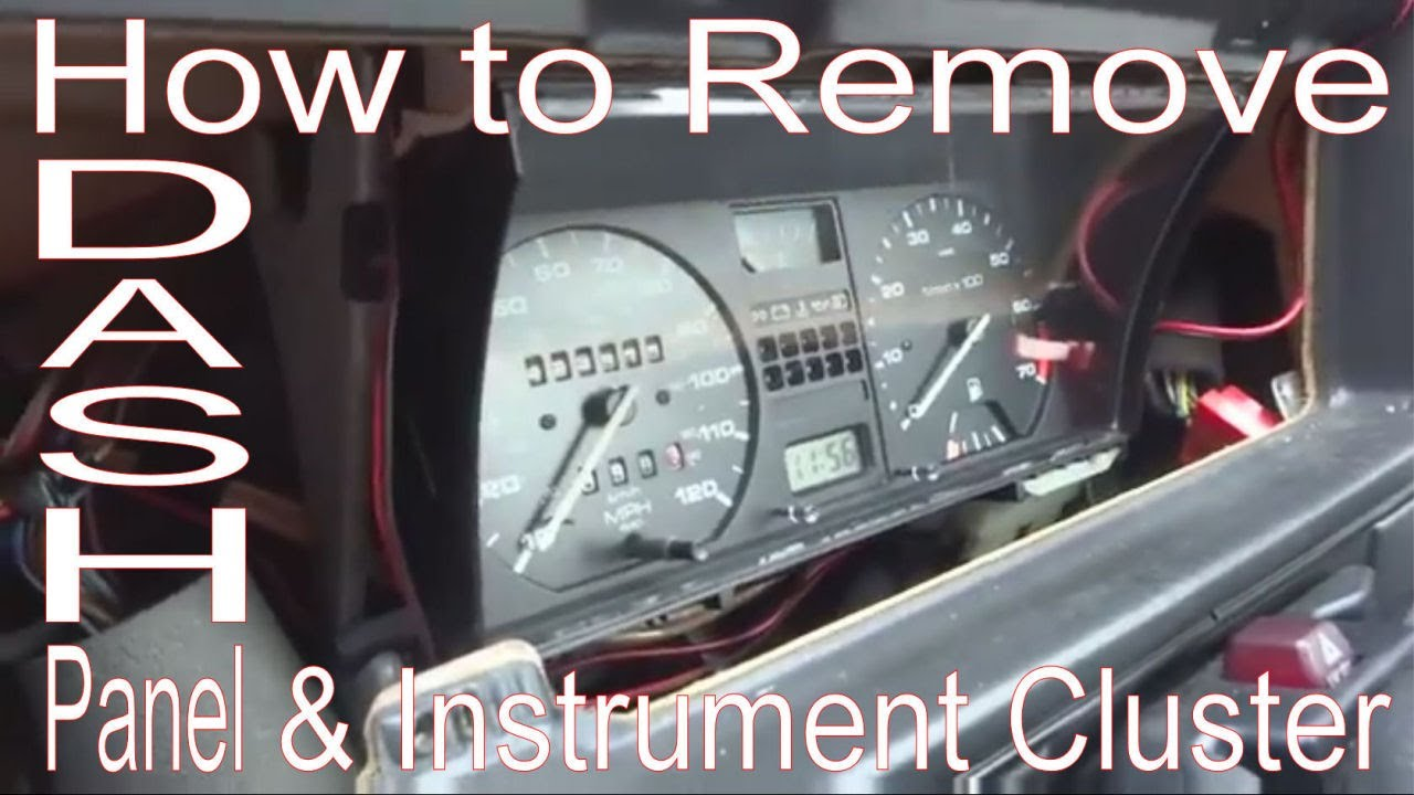 maxresdefault how to remove dash panel & instrument cluster vw golf mk2 youtube MK3 Jetta Wiring Diagram at creativeand.co