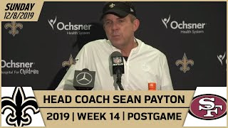 Sean Payton Postgame Reactions After Week 14 loss vs 49ers | New Orleans Saints Football