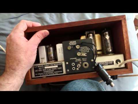 Vintage KLH radio receiver tuner eight. tube type. Part 1