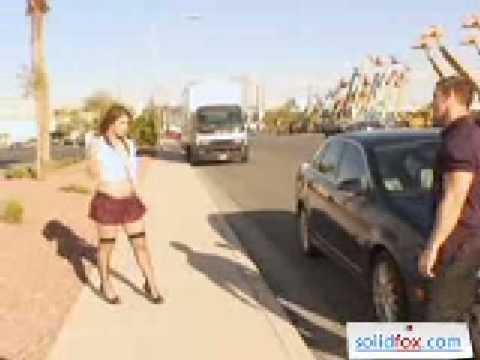 Sexy Slutty Chick in Daring Uniform Gets Saved - YouTube