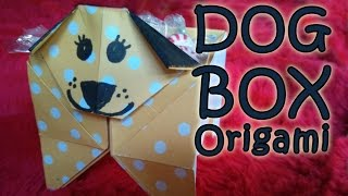 Dog Box Origami, Dog Origami That's Also A Box 犬の鉢箱折り紙 (diff 5/10)