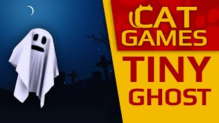 👻 CAT GAMES - Tiny Ghost (Halloween for Cats) 1 Hour 4K