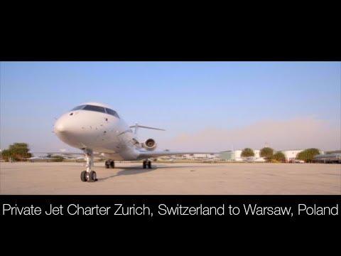 Private Jet Charter Zurich, Switzerland to Warsaw, Poland (2019)
