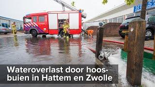 Wateroverlast door hoosbuien in Hattem en Zwolle - ©StefanVerkerk.nl