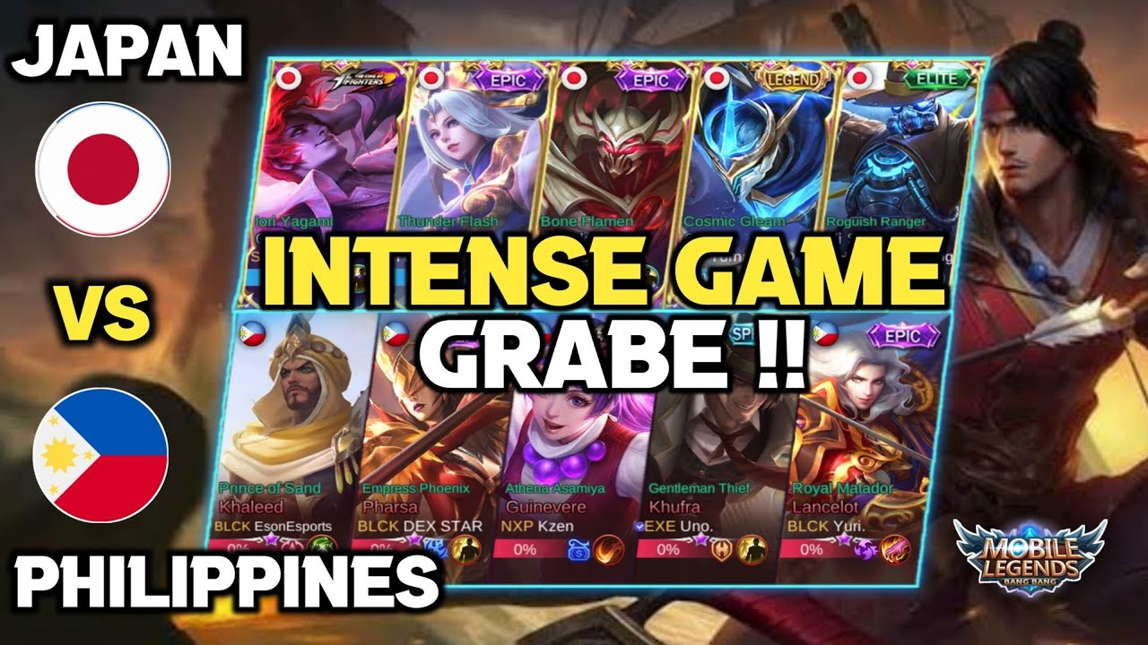 Intense Game Grabe !! Philippines VS Japan - National Arena Contest - Mobile Legends