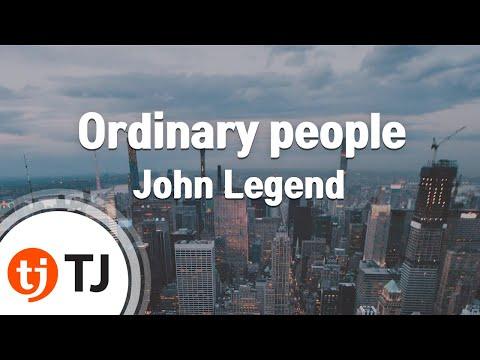 [TJ노래방] Ordinary people - John Legend / TJ Karaoke