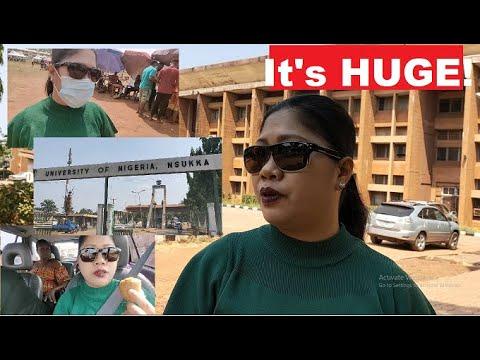 Finally I got to see UNIVERSITY OF NIGERIA NSUKKA, MAIN CAMPUS! #NaijaWife#EnuguYoutuber