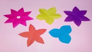 How to Cut 3,4,5,6,8 Petals Paper Flowers - DIY Paper Flower