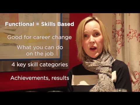 The chronological versus the functional resume