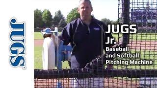 jr pitching machine for baseball and softball   jugs sports